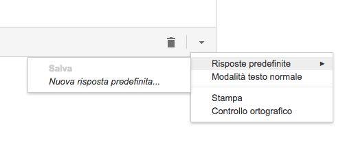 Gmail risposte predefinite nuova