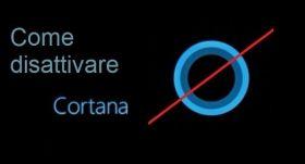 Come disattivare l'assistente vocale Cortana