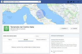 Terremoto, boom di post sui social: Facebook attiva Safety Check