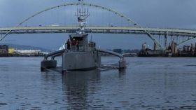 Sea Hunter, il trimarano militare che naviga senza equipaggio