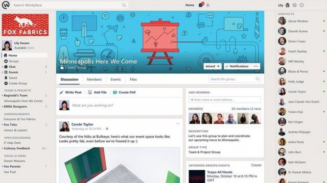 Facebook Workplace, il social network entra nelle aziende