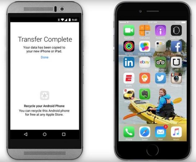migrare da Android a Apple